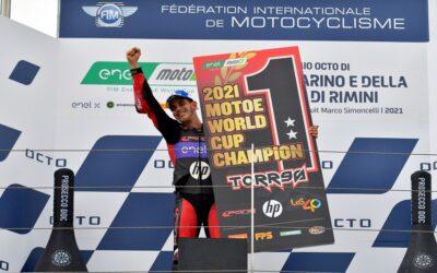 Jordi Torres, champion of the MotoE World Cup